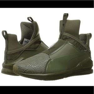 Puma Fierce Krm High-Top Green Sneaker